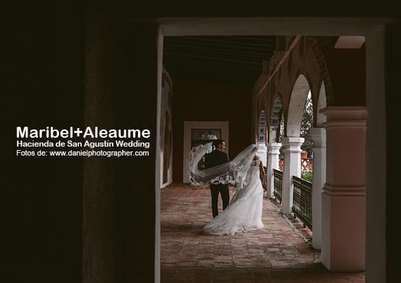 Maribel + Aleume - Fotógrafo de bodas en Puebla - Hacienda de San Agustín