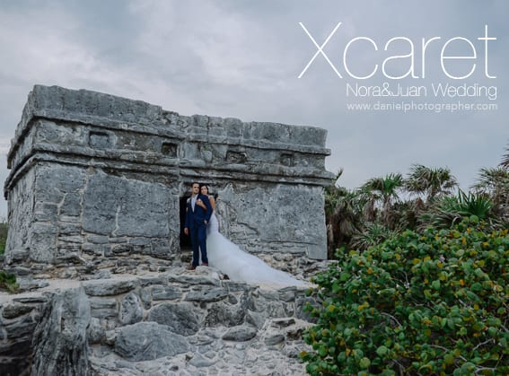 Xcaret Wedding Photos in Playa del Carmen