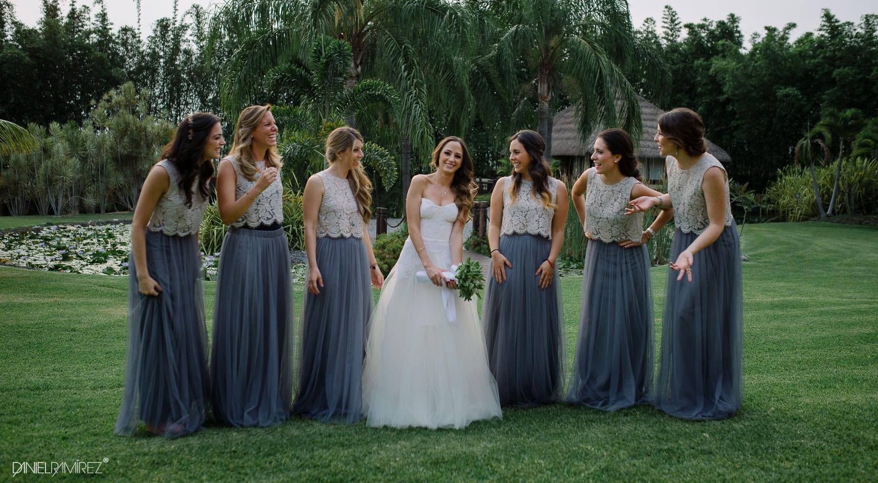 vestido de damas boda de dia