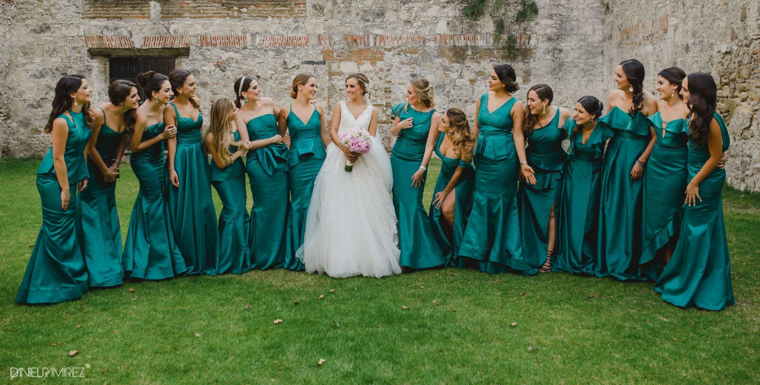 vestido damas verde